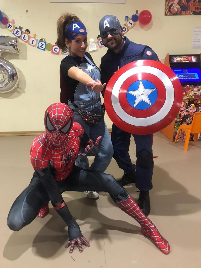 Superhéroes animadora