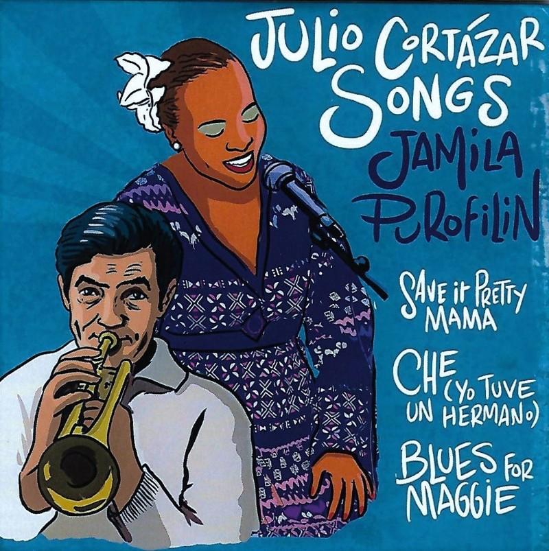 Portada del CD Julio Cortázar Songs