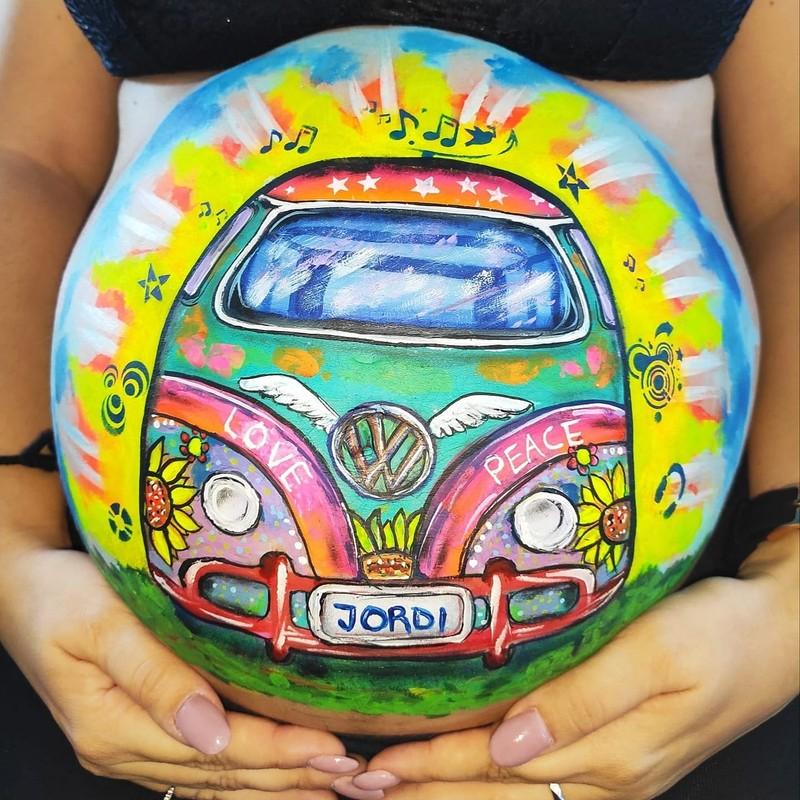 Caravana hippie - Belly Painting
