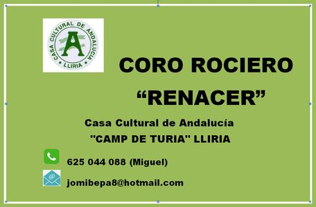 Coro Rociero Renacer presta servicio en la subcategoría de Flamenco y Coros Rocieros en Valencia