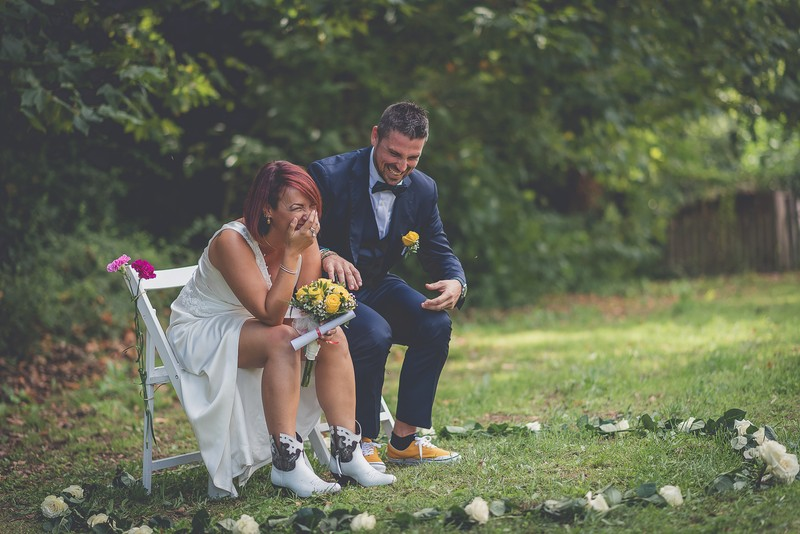 Risas durante la ceremonia