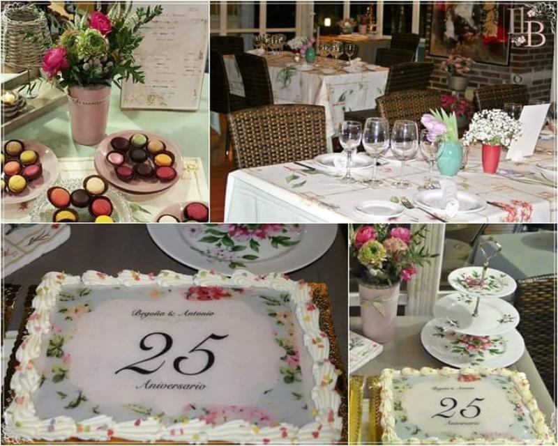 Decoración Porche Lazcano para bodas de plata