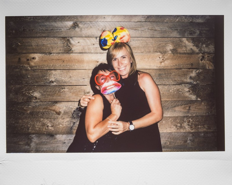 Photocall de boda con fotos polaroid