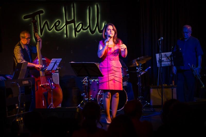 con un quinteto en el jazz club de Malaga