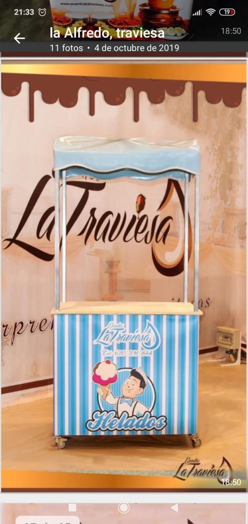 Carro helado artesanos