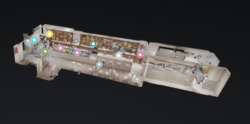 Visita Virtual 3D de Cafeterías