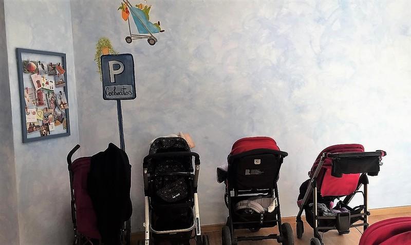espacios infantiles parking carritos bebés