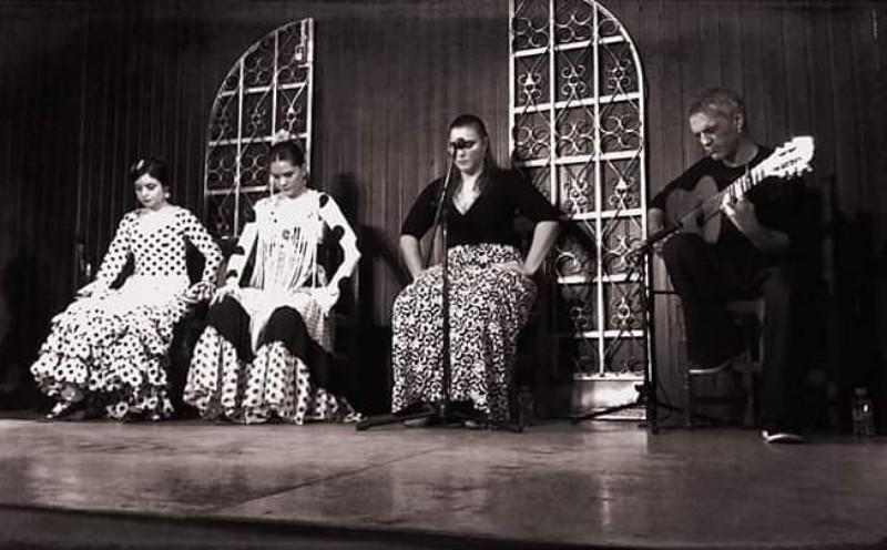 Cuadro flamenco de cante, toque y 2 bailaoras