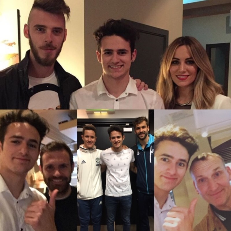 Magia para Edurne, David De Gea, Juan Mata y los demás jugadores del Manchester