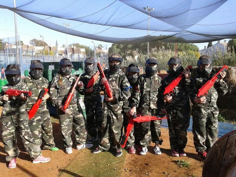 Grupo de Paintball en Pinomar