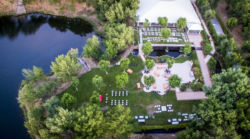 Vista aérea el Jardín Acebos
