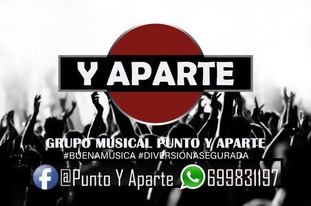 Punto y Aparte presta servicio en la subcategoría de Orquestas, cantantes y grupos en Sevilla