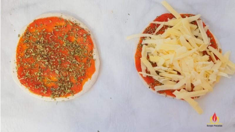mini pizzas con masa casera