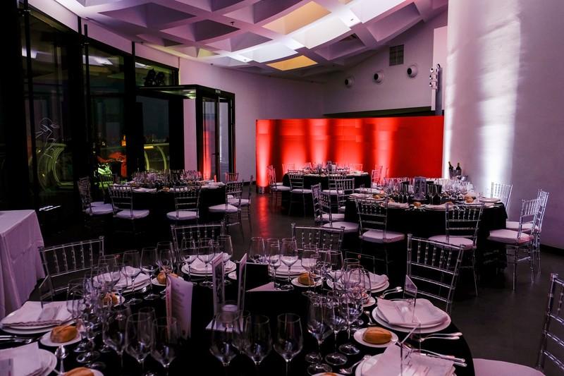 Cena de gala en sala Parasol