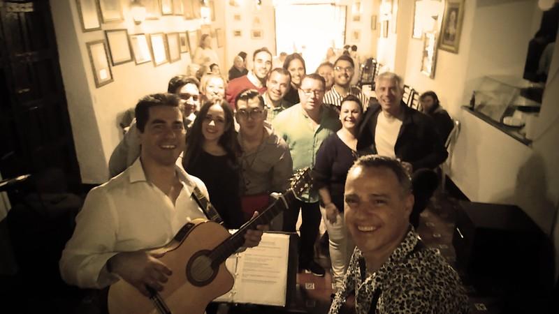 Actuación en Huévar, para la Real Hermandad de La Soledad
