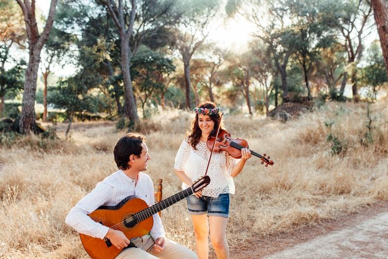 Violín y guitarra bodas madrid