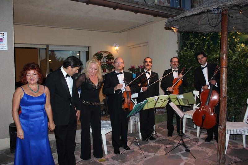 cuarteto cuerda, piano, tenor y soprano