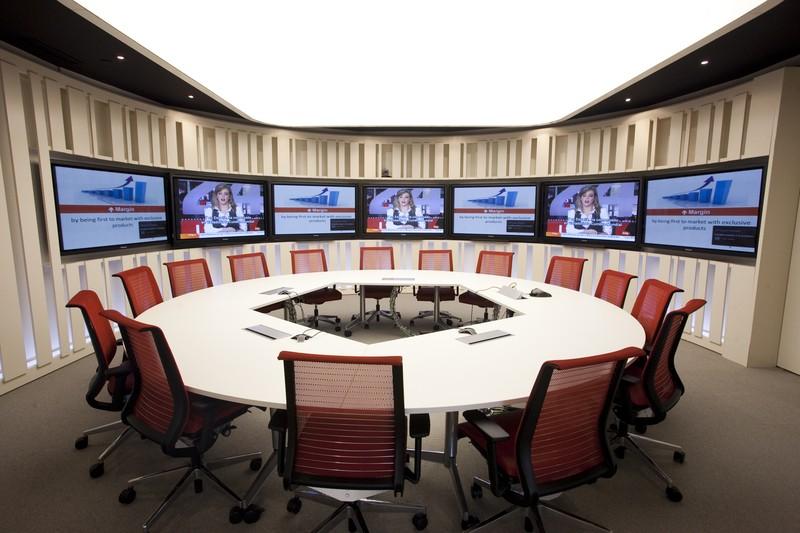 Instalación fija para salas corporativas.