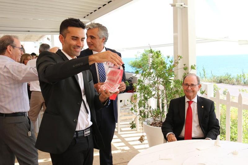 Con Antonio Fabregat.