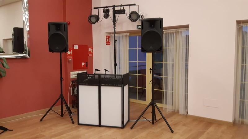 Cabina DJ Top Mini retroiluminada