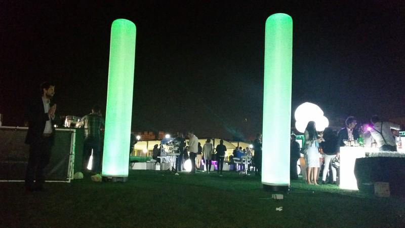 Columnas Iluminadas decorativas
