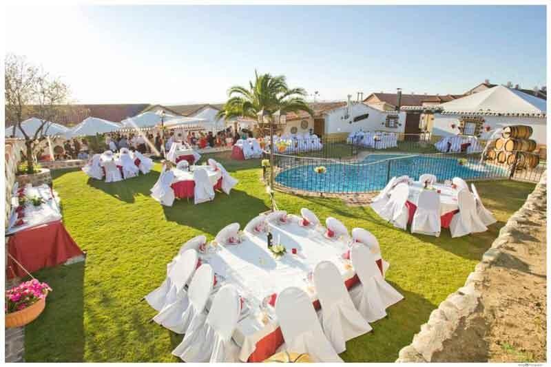 Jardines banquetes en La Finca