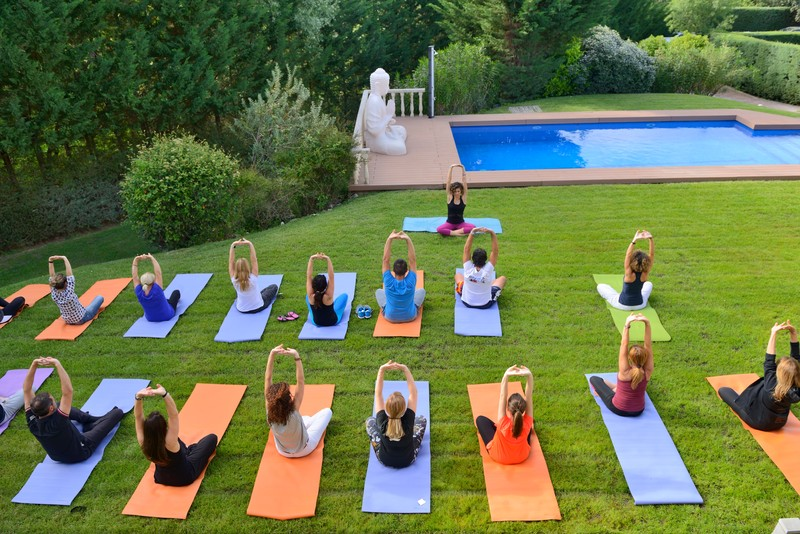 Yoga jardín