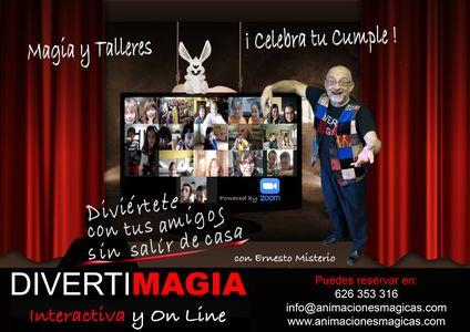 Animaciones Mágicas - DIVERTIMAGIA - ILUSIÓNATE presta servicio en la subcategoría de Magos en Madrid