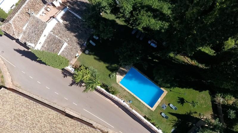 Vista aérea jardín