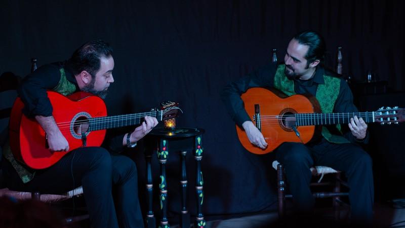 Dúo de guitarra flamenca