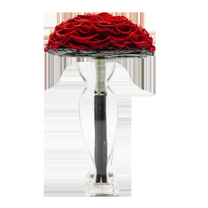 Rosmelia Medium preservada. Color Vibrant Red