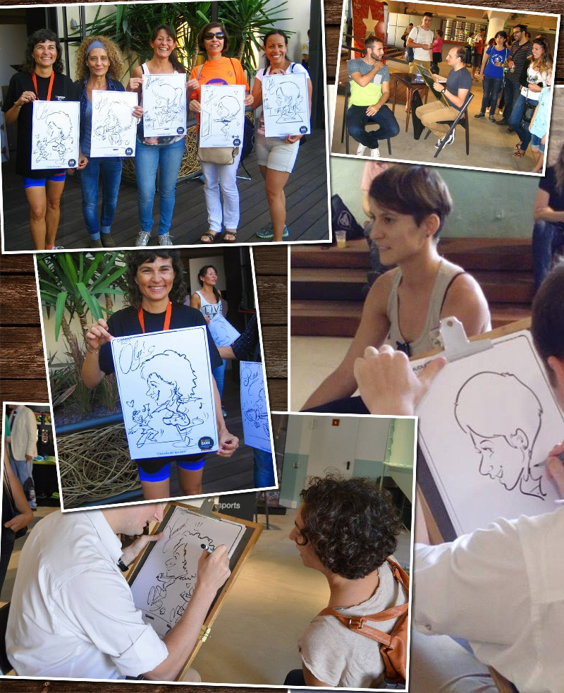 caricaturas en vivo hechas por Alex de Barcelona
