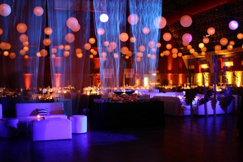 Decoración Interior de una celebración de noche