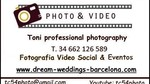 TONI PROFESSIONAL PHOTOGRAPHY FOTO & VIDEO FOTOGRAFO BODAS EVENTOS SOCIALES