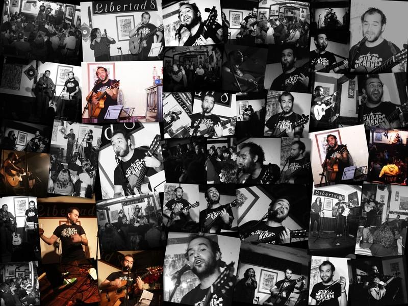 Collage del concierto en Libertad 8 Madrid