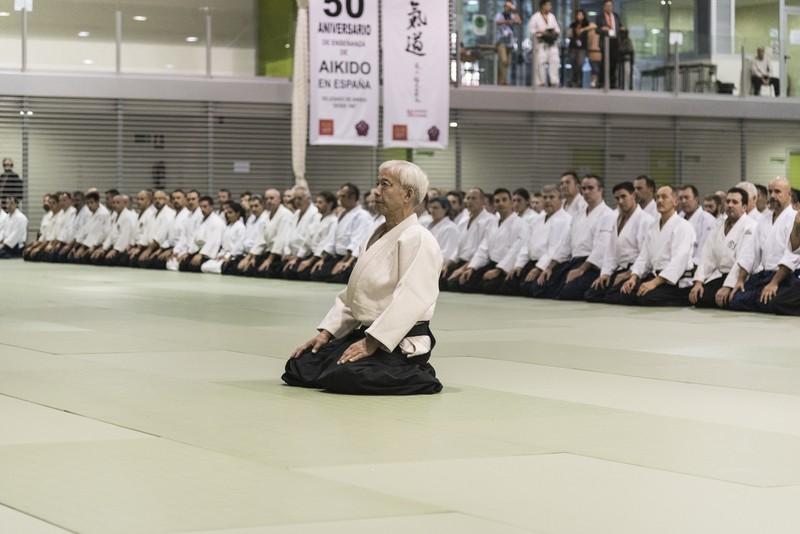 El Doshu en el 50 aniversario de la introducción del Aikido en España