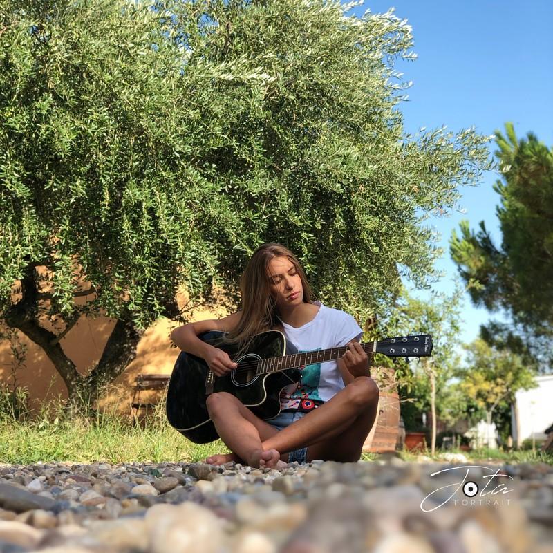 Grabación con la modelo Andra Cristobal Ribeiro