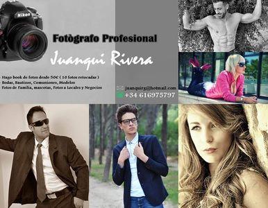 Juanqui Rivera Fotógrafo presta servicio en la subcategoría de Fotógrafos fiestas, comuniones o bautizos en Madrid