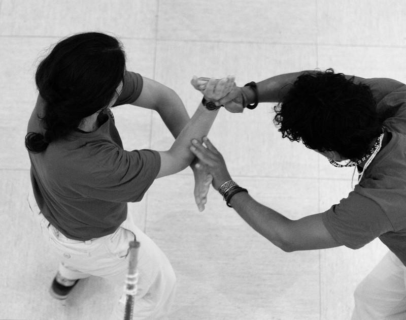 Espectáculo de capoeira en el Museo Nacional Antropológico de Madrid