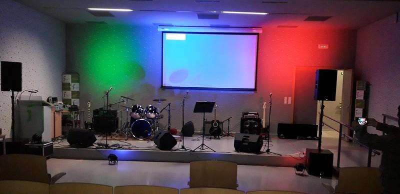 Sonorizacion iluminación  grupo rock