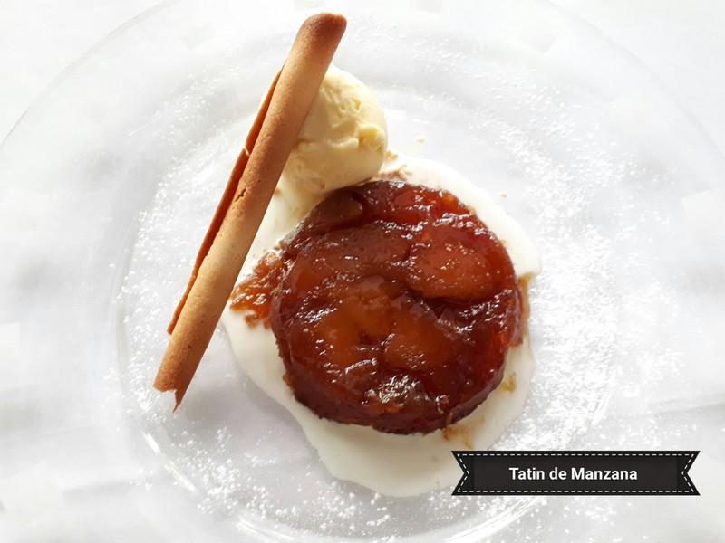 Tarta tatín de Manzana con helado de Canela