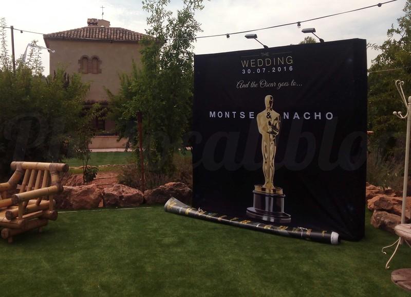 Photocall textil Oscars