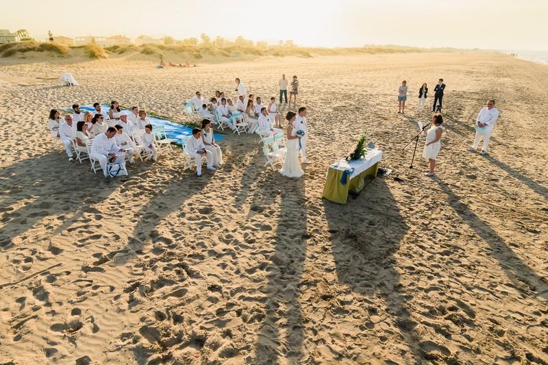 Ceremonia civil en playa