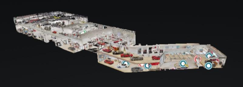 Visita Virtual 3D de Exposición de Vehículos