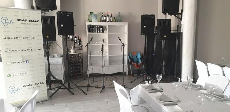 Sonorizacion para boda de grupo flamenco
