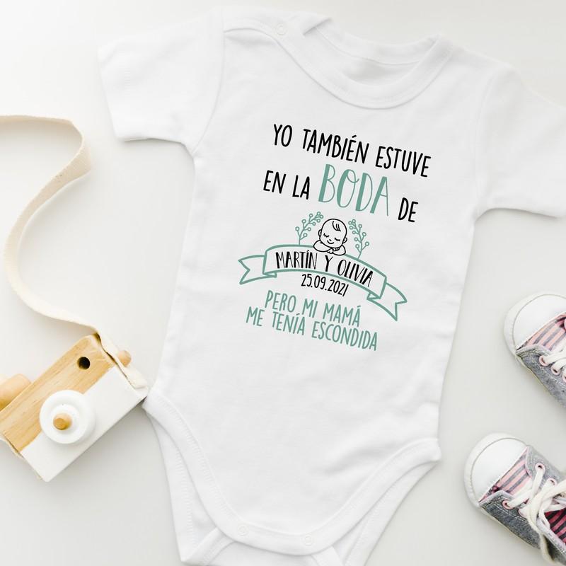 Regalo embarazada boda body bebe yo también estuve en la boda personalizado