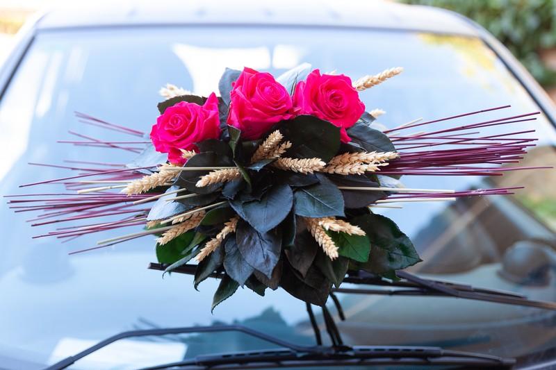 Ramo con rosas preservadas Hot Pink