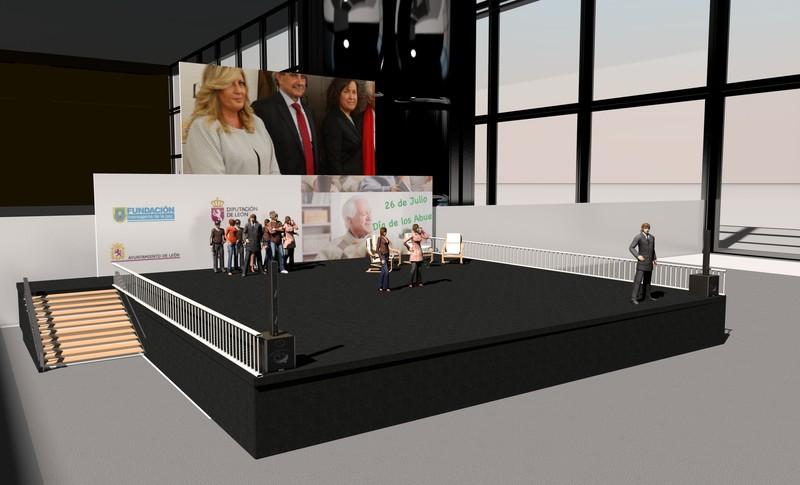 Diseño de Escenario para evento