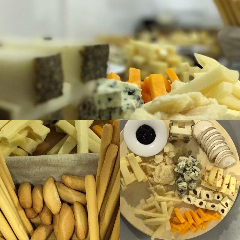 entrantes de quesos catering