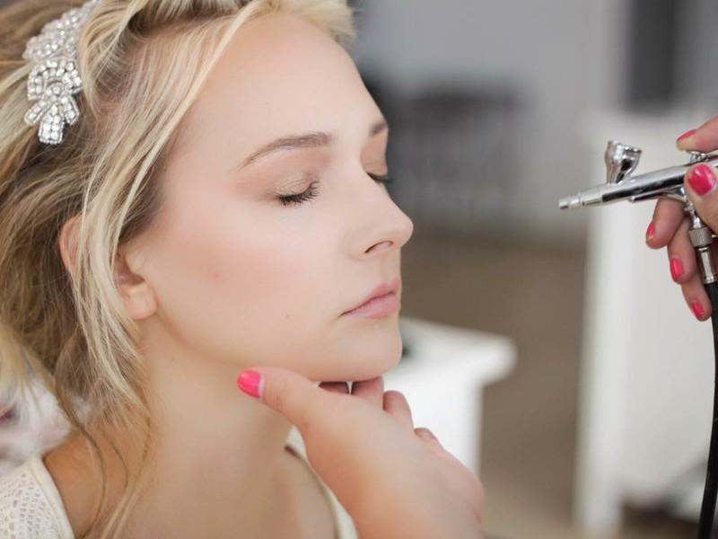 Maquillaje novia con aerógrafo